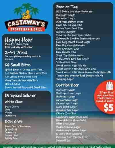 Castaways_Waterford_Lakes_DrinkMenu-S1