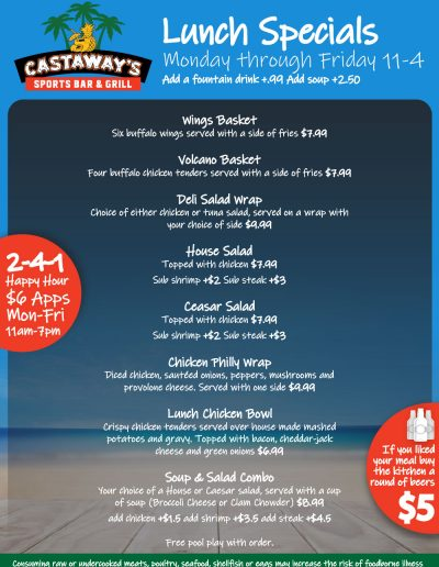 Castaways_Waterford_Lakes_LunchMenu